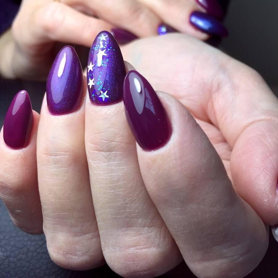 Дизайн ногтей со звездами